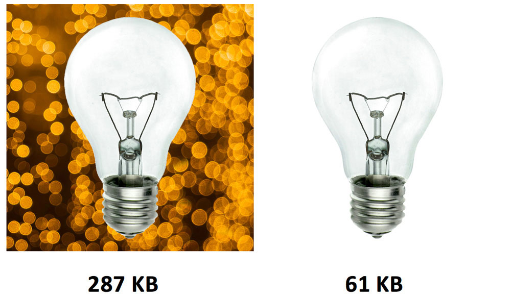 size comparison of product image