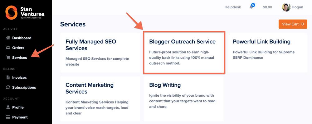 select blogger outreach