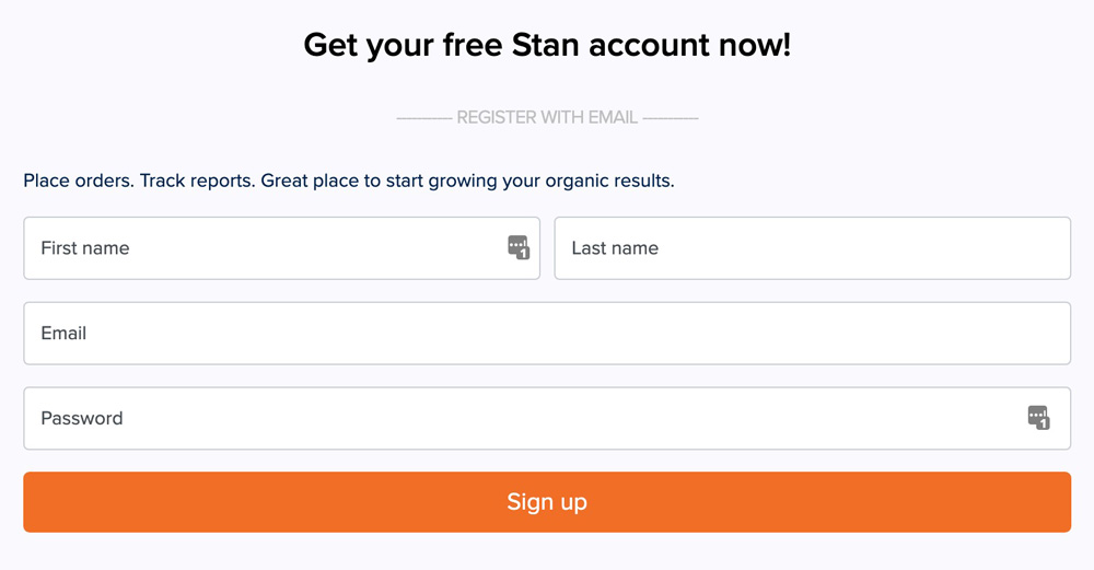 sign up stan ventures